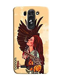Omnam Girl Smoking San Andreas Bridge Designer Back Cover Case For LG G3 Beat