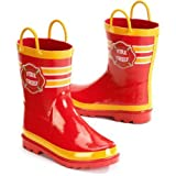 Little Boy's Fire Chief Rain Boots Sizes 7/8, 9/10 and 11/12