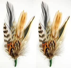 Buy touch of nature 2 piece feather pick with nylon loop for Where to buy craft feathers
