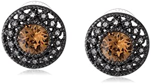 """Carolee LUX """"What A Girl Wants"""" Round Stud Earrings"""