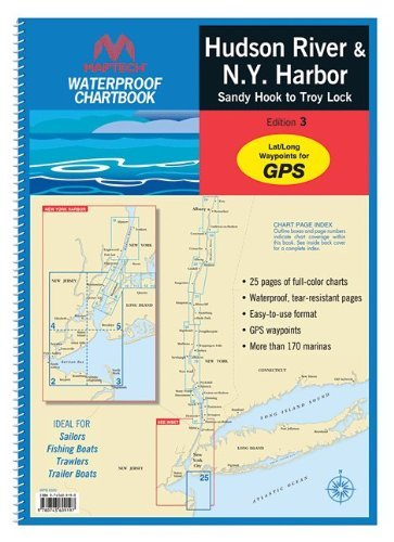 Maptech Waterproof Chartbook: Hudson River and New York Harbor (New York Harbor compare prices)