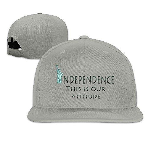 custom-unisex-independence-attitude-flat-brim-baseball-cap-hat-ash