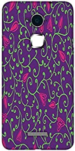 Snoogg seamless pattern with leaf Hard Back Case Cover Shield For Coolpad Note 3 (White, 16GB)