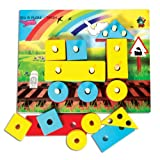 Skillofun Skillofun Peg A Puzzle Train Multi Color