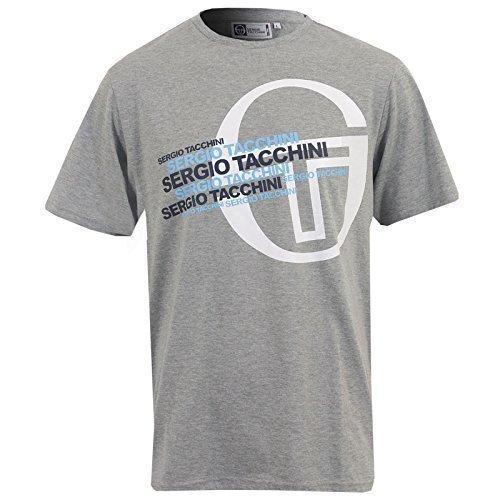 Nuovo Da Uomo Sergio Tacchini Hollyburn T-Shirt Maniche Corte Top Taglia S M L XL XXL - cotone, Grigio, 100% cotone 40% di sconto, Uomo, X-Large