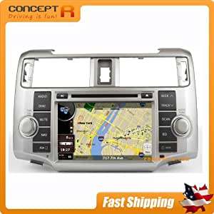 Toyota 4Runner In-dash GPS Navigation Stereo Satellite Sirius-Ready Radio w/ Copyrighted NNG iGo Navteq Maps FM AM DVD CD SD USB MP3 AVI Mutltimedia Touch Screen iPod/iPhone-ready Digital TV Option AV Receiver OEM Replacement Deck Virtual CD Changer Direct Fit Install 2010 2011 2012 2013 2014 FOR RUNNER
