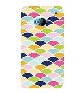 PrintVisa Pastel Colorful Pattern 3D Hard Polycarbonate Designer Back Case Cover for HTC One M7