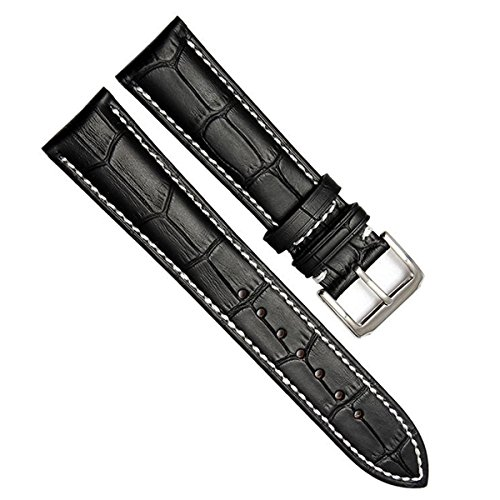 22mm-vintage-regular-replacement-genuine-leather-silver-buckle-watch-strap-watch-band-bamboo-grain-l