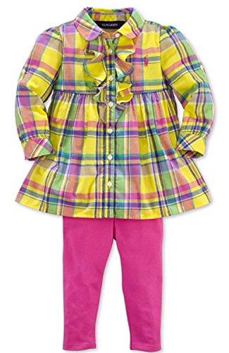 Polo Ralph Lauren Girls 2-Piece Plaid Print Tunic & Leggings (12 Months) front-1031684