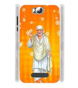 Lord Shirdi Sai Baba Sab Ka Malik Ek Soft Silicon Rubberized Back Case Cover for Micromax Canvas Spark 3 Q385