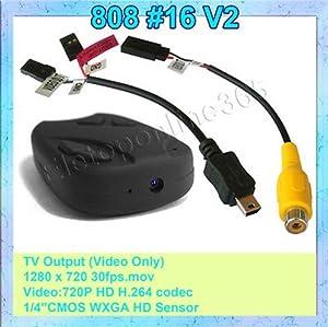 Makeit Mini DVR 808 #16 V2 -Lens A Car Key Chain Micro Camera HD 720P Pocket Camcorder Webcam