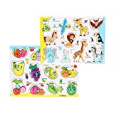 #5: FabSeasons Colorful Wooden Fruits and Animals Blocks / Puzzle for Kids