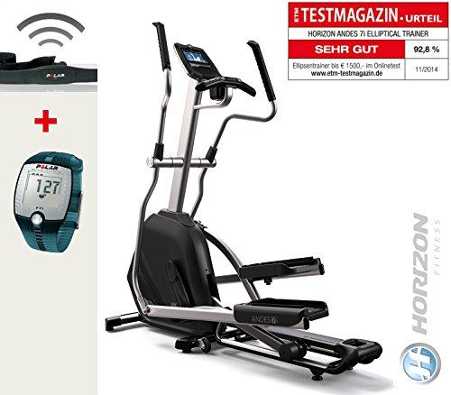 Andes 7 I Horizon Fitness cross trainer e FT1 Polar cardiofrequenzimetro Incl, T31 petto tracolla