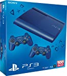 PlayStation 3 - Konsole Super Slim 500 GB blau (inkl. 2 DualShock 3 Wireless Controller blau)