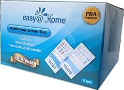 25 Pack #EDOAP-3104 Easy@Home 10 Panel Instant Drug Test Kits - Testing Marijuana (THC), Cocaine (COC), Opiate (OPI 2000), Methamphetamine (MET), Amphetamine (AMP), Barbiturates (BAR), Benzodiazepines (BZO),Methadone (MTD), Phencyclidine (PCP) , Methylene