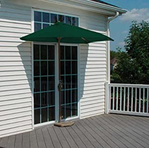 """OFF-THE-WALL BRELLA - 7.5 Ft. with SolarVista Fabric (Green) (94""""H x 88""""W x 45""""D)"""
