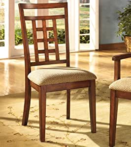 cross island dining uph arm chair medium brown oak stain set of 2