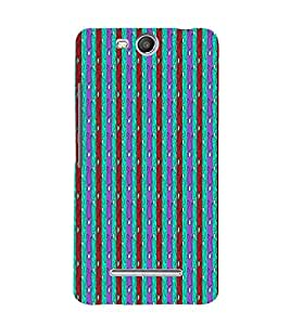Lines Road Blue Green Red 3D Hard Polycarbonate Designer Back Case Cover for Micromax Canvas Juice 3 Q392