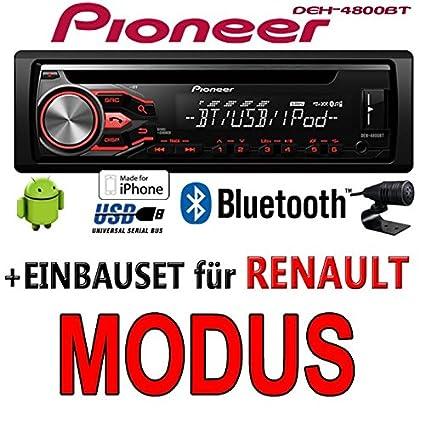 Renault modus pioneer dEH - 4800BT-cD/mP3/uSB avec kit de montage