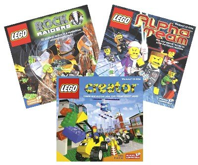 Lego Three Pack (Lego Alpha Team / Lego Creator /Lego Rock Raiders) front-836693