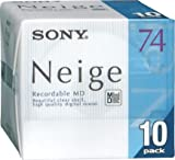 Sony Neige Series MiniDisk 74 Min 10 Pack Recordable MD