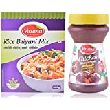 Vasana Rice Briyani Mix, 250 G And Chicken Masala Paste, 300 G (Combo Of 2)