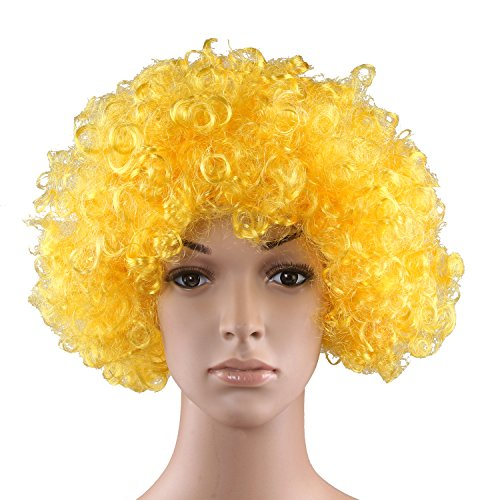 HOTER (Yellow Afro Clown Wig)