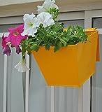 Green Gardenia Triangle Railing Planter -Yellow