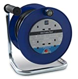 Masterplug LDCC2513/4AZ 25m 4 Socket 13 Amp Open Cable Reel with Thermal Cut Out and Reset Button