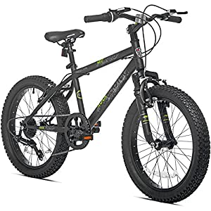 Amazon.com : 7 Speed Fat Tire Steel Frame Hardtail Kids Mountain Bike