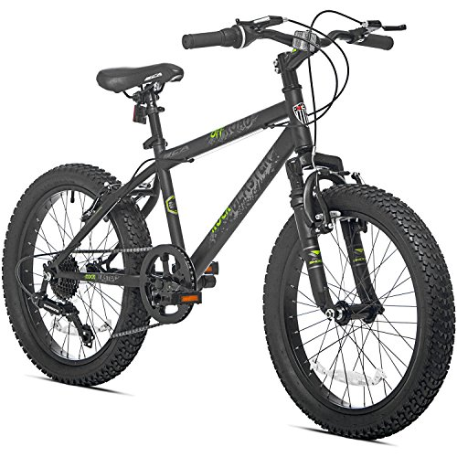 7 Speed Fat Tire Steel Frame Hardtail Kids Mountain Bike for Boys, 20 Inch with Padded Seat (Mountain Bike Gary Fisher compare prices)