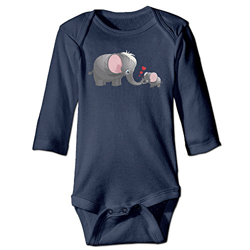 [Mom Kid Elephant Heart Cute Boy And Girl Baby Climb Clothes 6 M Navy] (Lucas Mother 3 Costume)