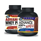 Advance Whey PRO Protein 2kg Vanilla Flavour& ADVANCE 100% WHEY 25gm Protein Per 33gm 1kg Chocolate (Combo Offer)
