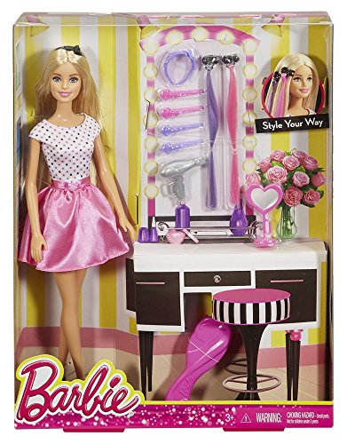 Barbie Doll with Hair Accessory (Barbie Hair Dryer compare prices)