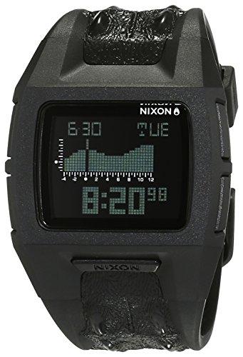 Nixon Lowdown S Black Not Croc A3641944-00 - Reloj unisex, correa de plástico color negro