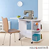 Holly & Martin Lydia White Laminate Sewing Table