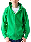 (ティーシャツドットエスティー) Tshirt.st 無地でシンプルな レギュラー ジップ パーカー (裏パイル) ケリーグリーン XL
