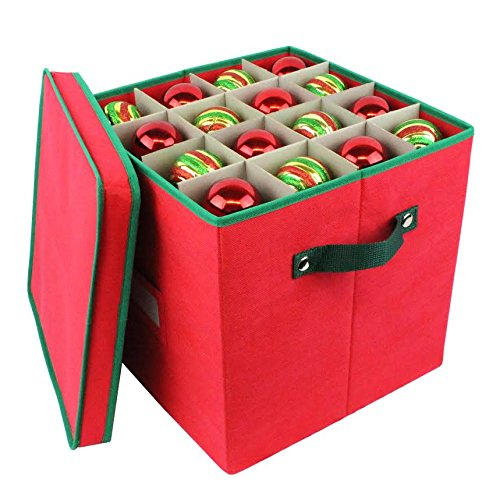 Pakkon christmas decoration ornaments storage box with 4 for Xmas decoration storage boxes