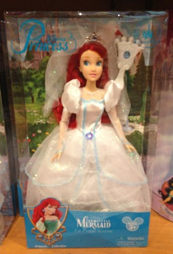 Disney Park Ariel Little Mermaid Wedding Bride 11.5 inch Doll NEW 2013 Release