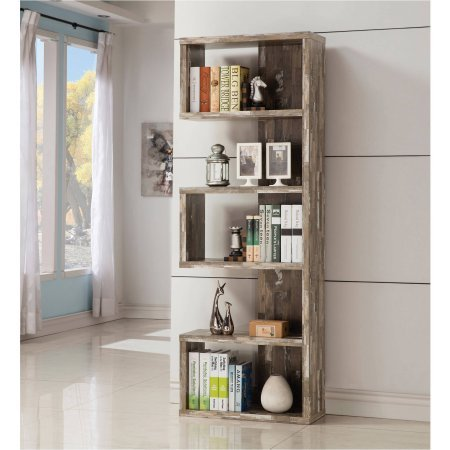 coaster-contemporary-salvaged-cabin-bookcase-salvaged-silver-finish