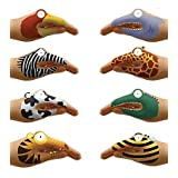 Non-Toxic Talking Animal Hand Tatoos, Set of 8