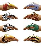 Non-Toxic Talking Animal Hand Tatoos, Set of 8