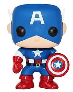 Amazon Com Funko Pop Marvel Captain America Vinyl Bobble