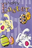 Card House ' Happy Easter ' Fun Bunny Easter Eggs Card Great Value Greeting Cards