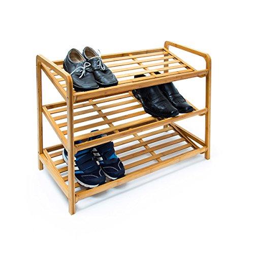Relaxdays-Schuhregal-Bambus-HxBxT-67x705x33-cm-schrge-Schuhablage-mit-3-gerumigen-Ebenen-aus-natrlichem-Bambus-als-Schuhstnder-und-praktisches-Accessoire-fr-den-Flur-und-die-Wohnung-natur