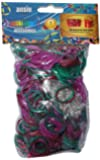 Loom Bands Stripes Metallic with Charms and S-Clips (Pack of 750, Assortment)