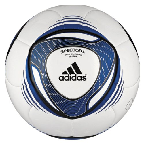 Adidas 2011 Glider Soccer Ball, White/Collroyal, 5
