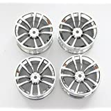 Signswise 4PCS 1:10 RC Model On-Road Car Metal Wheel Rims ,Aluminum Rims HPI HSP 610