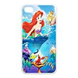 CreateDesigned The Little Mermaid Snap on Case Cover for Apple Iphone 4/4s TPU Case