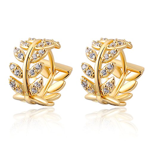 yc-top-charm-18k-gold-plated-cubic-zirconia-elegant-leaf-hoop-earrings
